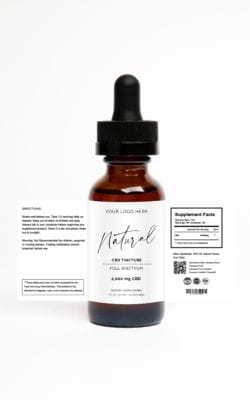 Private Label CBD 1oz Tincture